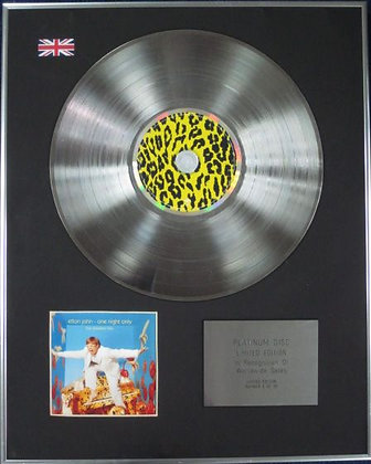 ELTON JOHN - Limited Edition CD Platinum Disc - ONE NIGHT ONLY