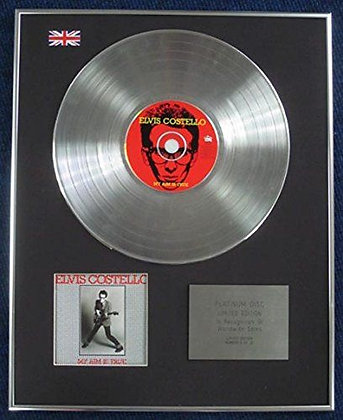ELVIS COSTELLO - Limited Edition CD Platinum LP Disc - MY AIM IS TRUE