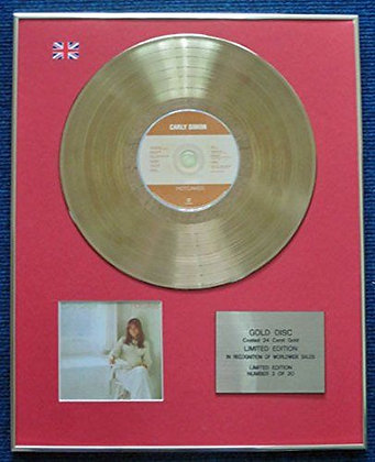 Carly Simon - Limited Edition CD 24 Carat Gold Coated LP Disc - Hot cakes