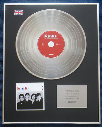 Kinks - Limited Edition CD Platinum LP Disc - Ultimate Collection