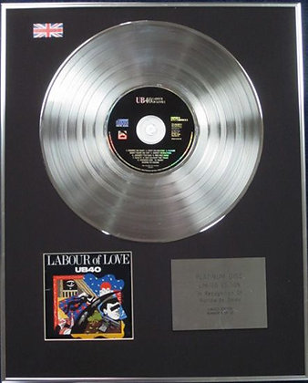 UB40 - Limited Edition CD Platinum Disc - LABOUR OF LOVE