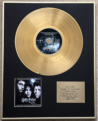 HARRY POTTER - Limited Edition CD 24 Carat Gold Coated LP Disc - AND THE PRISONE