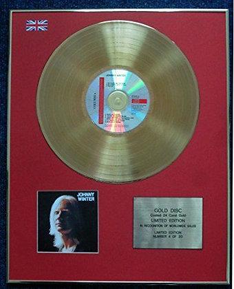 Johnny Winter - CD 24 Carat Gold Coated LP Disc - 'Johnny Winter'