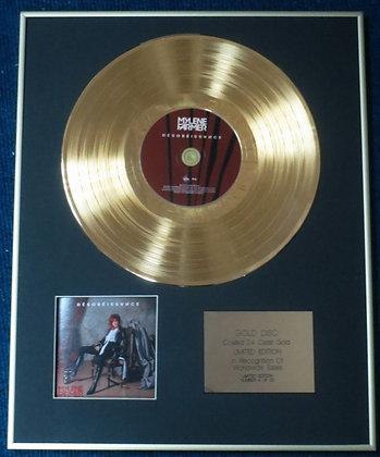 Mylène Farmer - Limited Edition CD 24 Carat Gold Coated LP Disc - Désobéissance