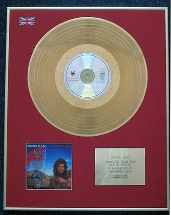 ROBERT PLANT - Limited Edition CD 24 Carat Gold Coated LP Disc - NOW AND ZEN