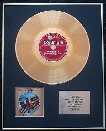 Bob Dylan - Exclusive Limited Edition 24 Carat Gold Disc - Christmas in the Hear
