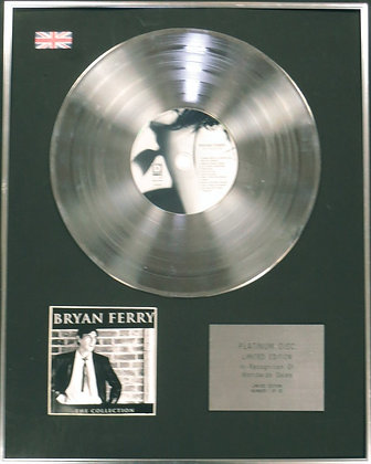 BRYAN FERRY - Limited Edition CD Platinum Disc - THE COLLECTION