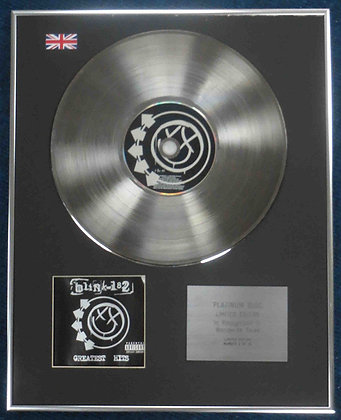 Blink - 182 Limited Edition CD Platinum LP Disc - Greatest Hits