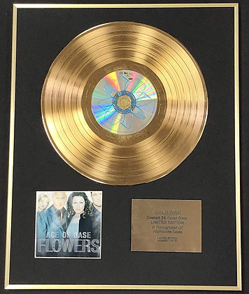 Ace Of Base - Exclusive Limited Edition 24 Carat Gold Disc - Flowers