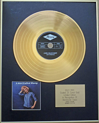 DUSTY SPRINGFIELD - Exclusive Limited Edition 24 Carat Gold Disc - A GIRL CALLED