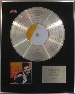 MICHAEL BUBLE - Limited Edition CD  Platinum Disc - TO BE LOVED