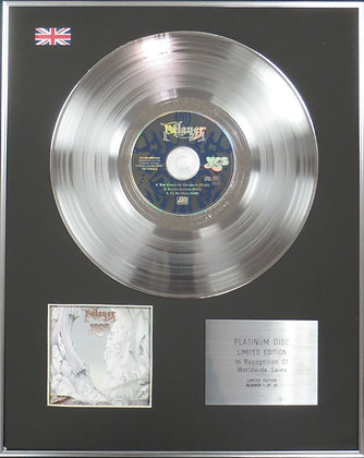 YES - Limited Edition CD Platinum Disc - RELAYER