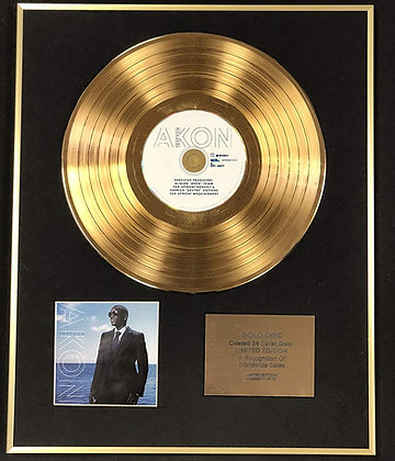 Akon - Exclusive Limited Edition 24 Carat Gold Disc - Freedom