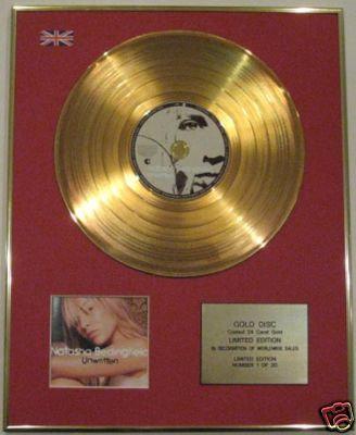 NATASHA BEDINGFIELD-Ltd Edition CD Gold Disc -UNWRITTEN