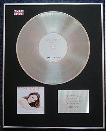 Sam Bailey - Limited Edition CD Platinum LP Disc - The Power of Love