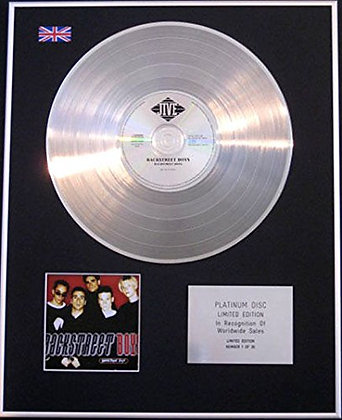 BACKSTREET BOYS - CD Platinum Disc - BACKSTREET BOYS