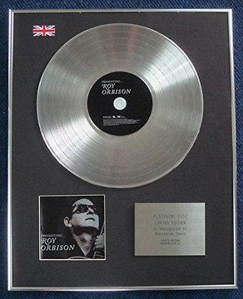 Roy Orbison - Limited Edition CD Platinum LP Disc - Presenting Roy Orbison
