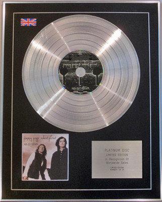 JIMMY PAGE & ROBERT PLANT - Limited Edition CD Platinum Disc - NO QUARTER