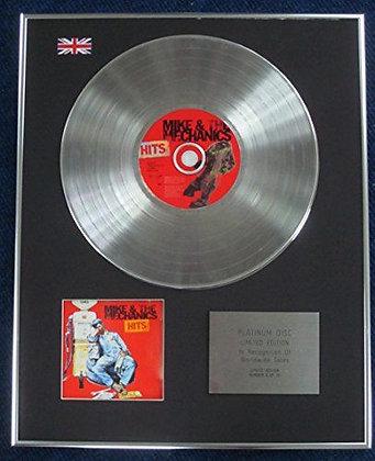 Mike & The Mechanics - Limited Edition CD Platinum LP Disc - Hits