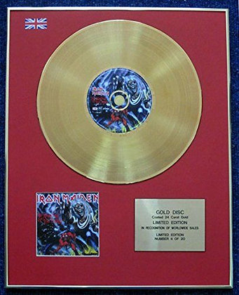 Iron Maiden - LTD Edition CD 24 Carat Gold Coated LP Disc -Number of the Beast