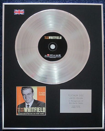David Whitfield - Limited Edition CD Platinum LP Disc - Best Of