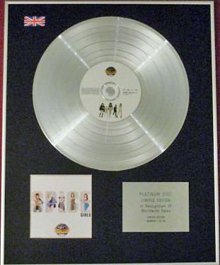 SPICE GIRLS -  CD Platinum Disc - SPICEWORLD