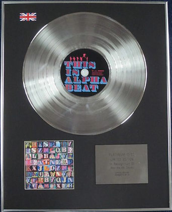 ALPHA BEAT - Limited Edition CD Platinum Disc - THIS IS ALPHA BEAT