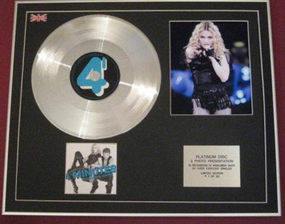 MADONNA & JUSTIN -CD Platinum Disc+Photo - 4 MINUTES