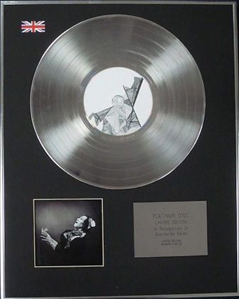 ANTONY AND THE JOHNSONS - Limited Edition CD Platinum Disc -THE CRYING LIGHT