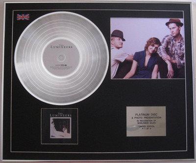 """THE LUMINEERS - Platinum Disc + Photo -"""" THE LUMINEERS"""""""