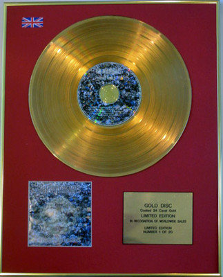THE WILDHEARTS  - Limited Edition 24 Carat CD Gold Disc - FISHING FOR LUCKIES