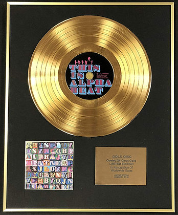 Alphabeat - Exclusive Limited Edition 24 Carat Gold Disc - This Is Alphabeat