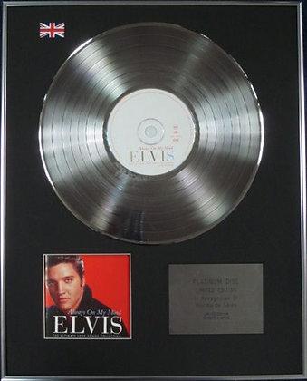 ELVIS PRESLEY - Limited Edition CD Platinum Disc - ALWAYS ON MY MIND