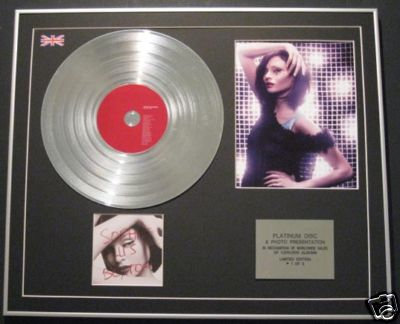 SOPHIE ELLIS  BEXTOR - Platinum Disc+Photo-READ MY LIPS