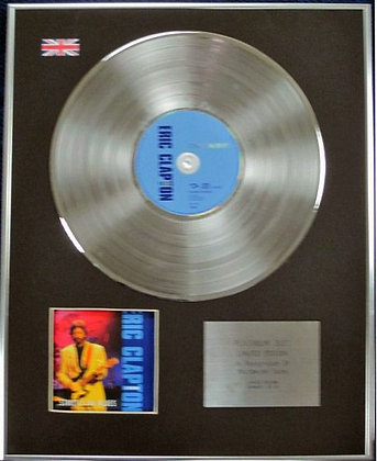 ERIC CLAPTON - Limited Edition CD Platinum Disc - STRICTLY THE BLUES