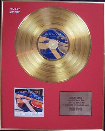GARY MOORE - Ltd Edition CD 24 Carat Coated Gold Disc -BALLADS AND BLUES