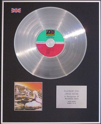 LED ZEPPELIN - CD Platinum Disc - HOUSES OF THE HOLY