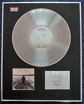 Staind - Limited Edition CD Platinum LP Disc - The Illusion of Progress