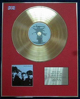 Echo & the Bunnymen - 24 Carat Gold Coated LP Disc - Echo & the Bunnymen
