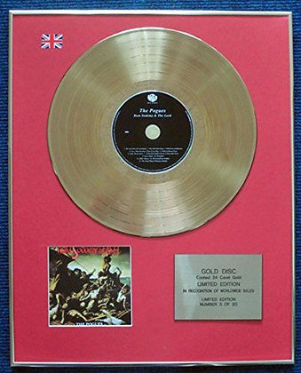 Pogues - Limited Edition CD 24 Carat Gold Coated LP Disc -Rum Sodomy andthe Lash
