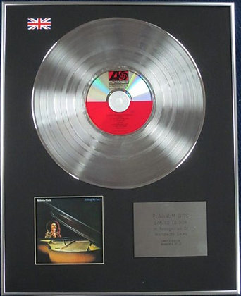 ROBERTA FLACK - Limited Edition CD Platinum Disc - KILLING ME SOFTLY