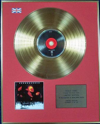 SOUNDGARDEN - Ltd Edition CD 24 Carat Coated Gold Disc - SUPERUNKNOWN