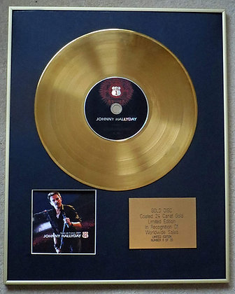 JOHNNY HALLYDAY - Exclusive Limited Edition 24 Carat Gold Disc STADE DE FRANCE 2