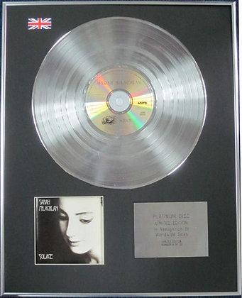 SARAH McLACHLAN - Limited Edition CD Platinum Disc - SOLACE