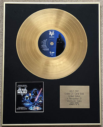 STAR WARS V - Ltd Edition CD 24 Carat Gold Coated Disc - THE EMPIRE STRIKES BACK