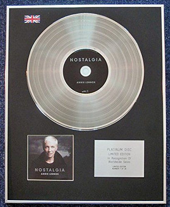 Annie Lennox - Limited Edition CD Platinum LP Disc - Nostalgia