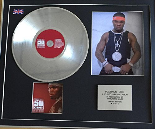 50 CENT - Platinum Disc CD Single + Photo - IN DA CLUB