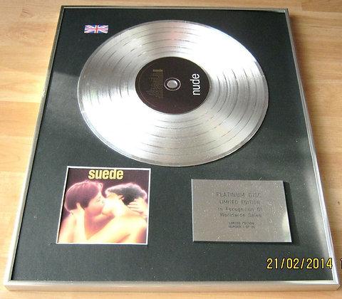 SUEDE - CD Platinum Disc - SUEDE