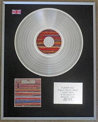 JOHNNY CLEGG & SAVUKA - Limited Edition CD Platinum Disc - CRUEL CRAZY BEAUTIFUL