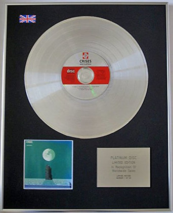 MIKE OLDFIELD - Limited Edition CD Platinum Disc - CRISIS